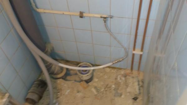 Provisorisk koppling av vatten.